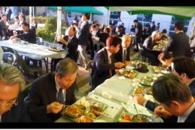 총회 첫째날, 즐거운 식탁교제