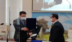 김재호 원로목사 추대 및 캄보디아장로회신학대학교총장 취임을 위한 명예순회선교사 파송